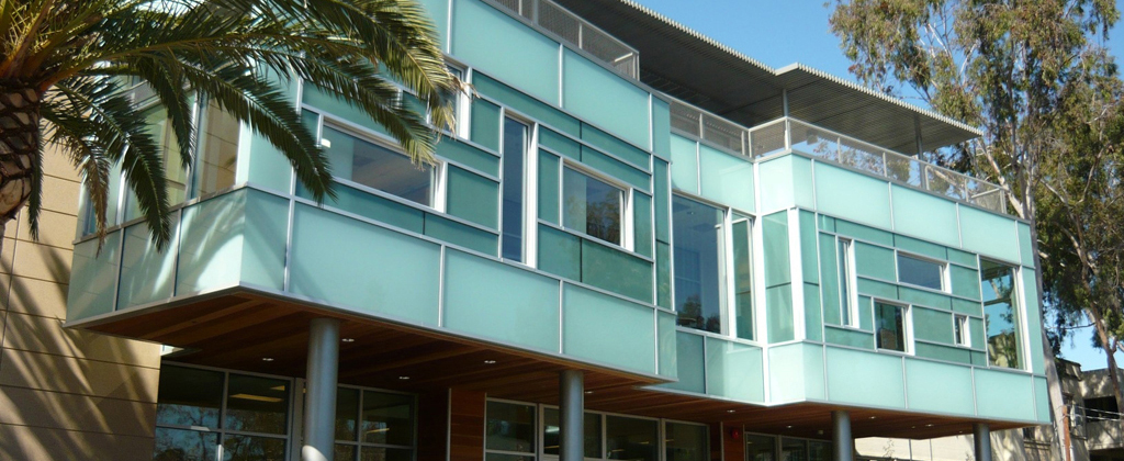 Panelite ClearShade exterior facade curtain wall glazing | Hubbard Library | Architect: William McDonough