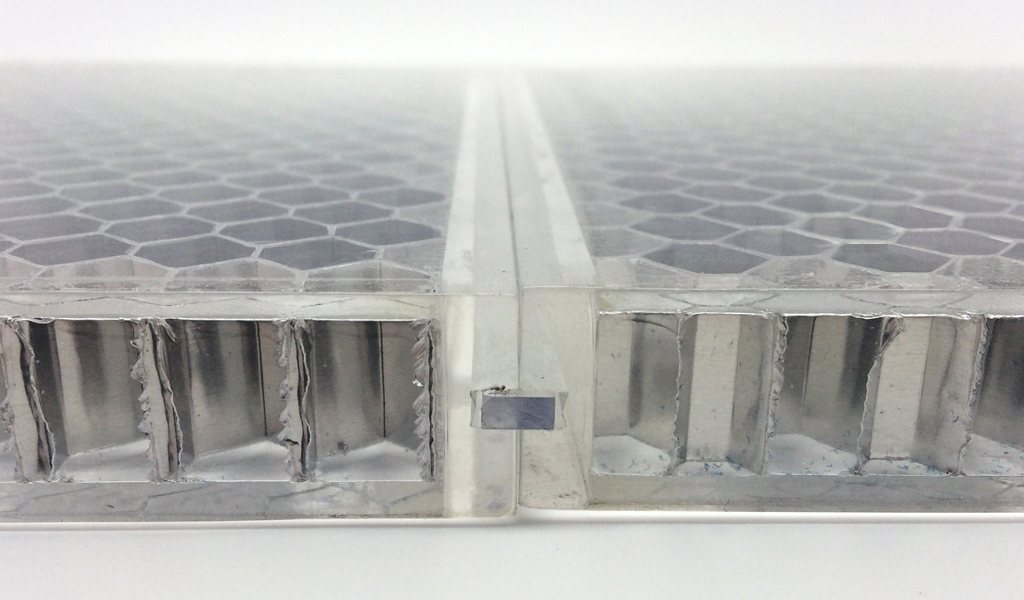 BF-ITL2 AHCT ClearConnect detail for Panelite translucent honeycomb panels section B