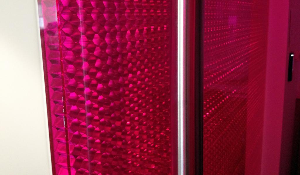 Product: Panelite Bonded Series Panels | B-AHVT Aluminum Hexagon Small honeycomb core + Violet Transparent facings