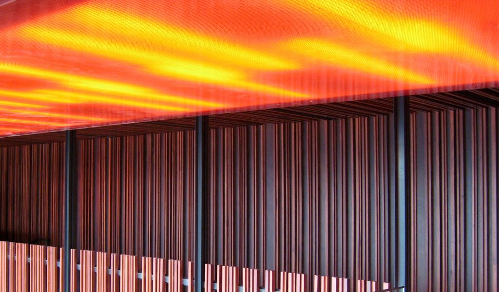 Translucent Honeycomb Panels Downtown Bar Johnsen