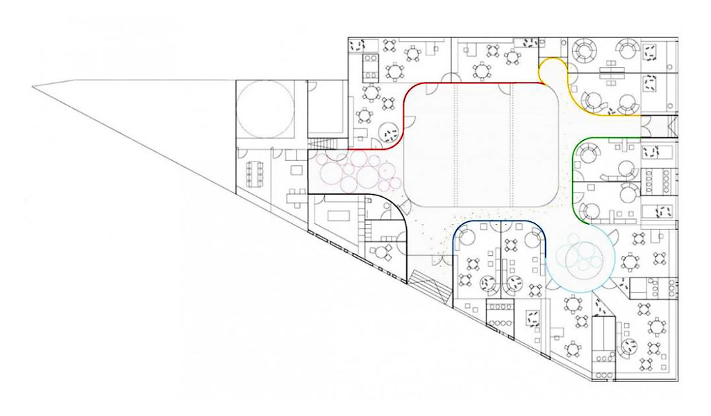 Plan by Girod + Anton Arquitectos via ArchDaily