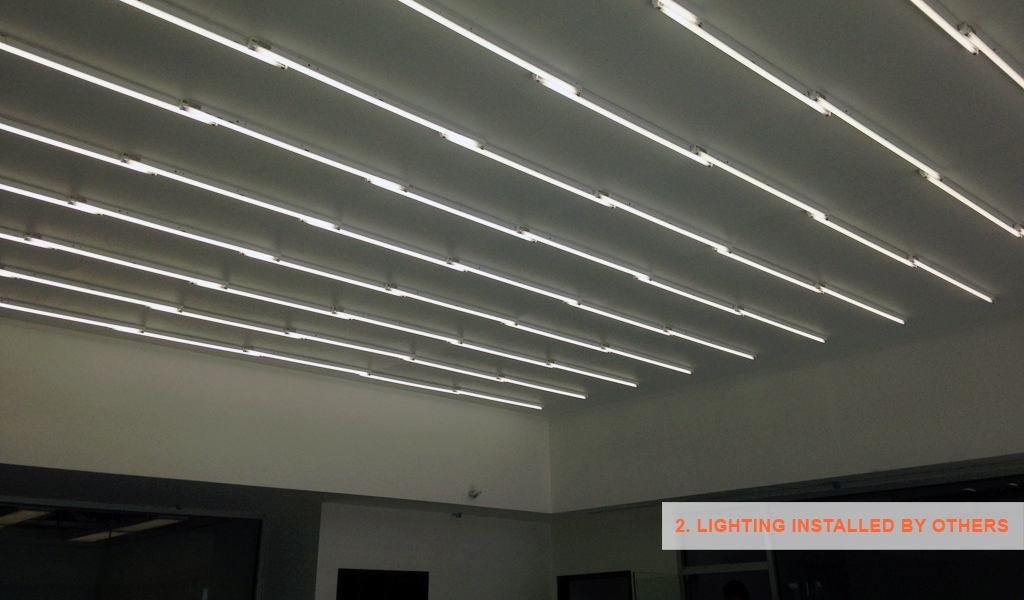 2- Panelite SNAP System for backlit walls and ceilings - installed lights by others