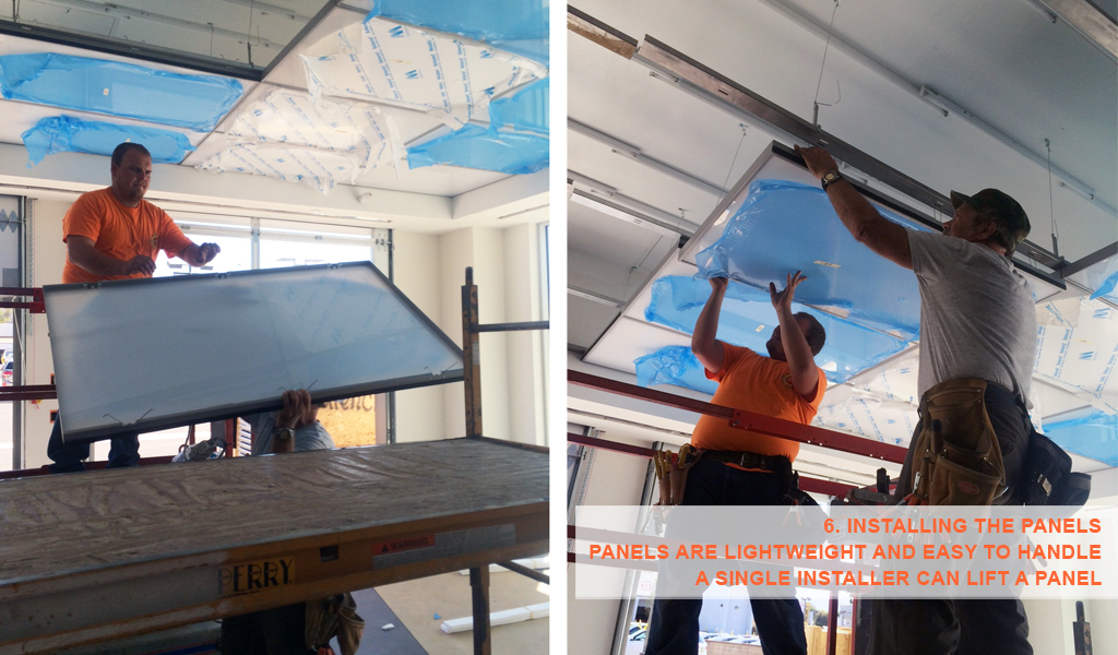 6- Panelite SNAP System for backlit walls and ceilings - installing the panels