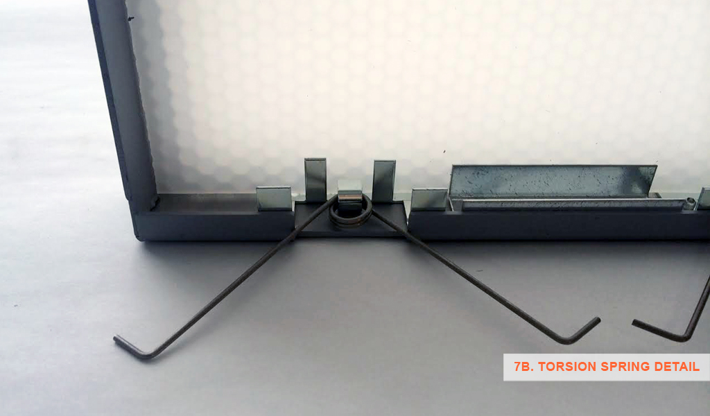 7B - Panelite SNAP System for backlit walls and ceilings - torsion spring detail