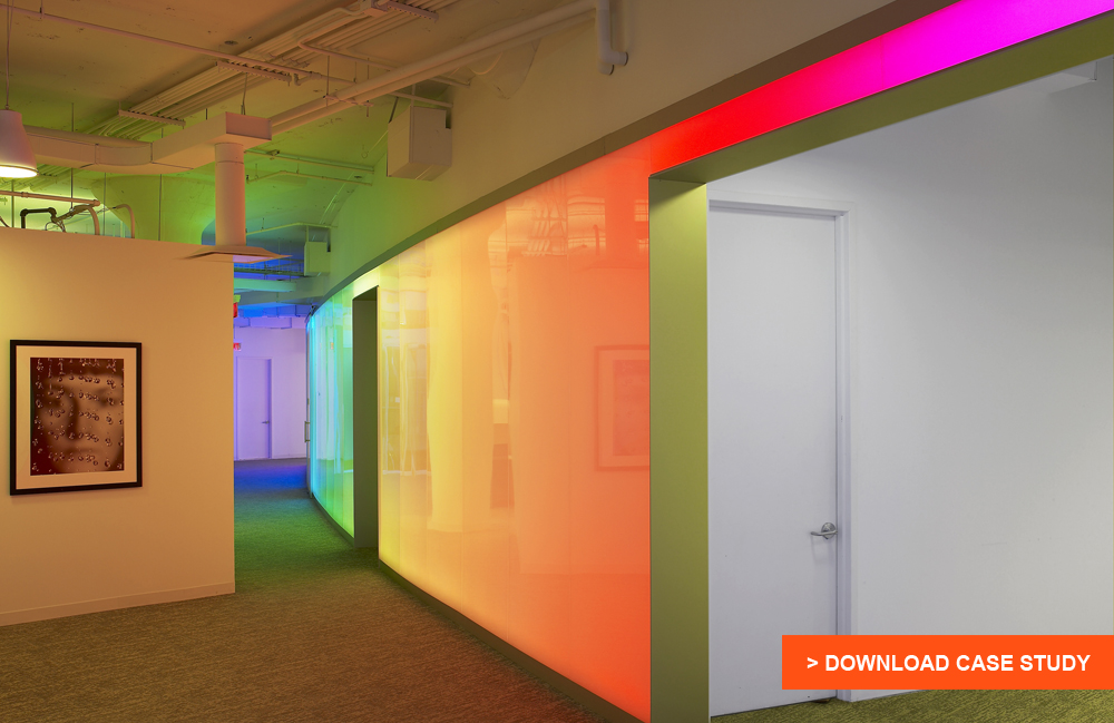 Panelite Case Study: Frameless Backlit Walls Maximize Space in Meeting Rooms and Hallways