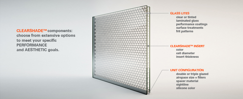 Clearshade High Performance Honeycomb Glazing Product