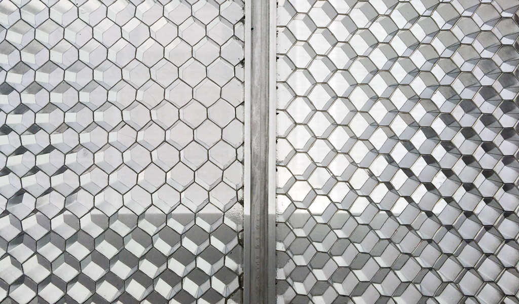 BF-ITL2 AHCT ClearConnect detail for Panelite translucent honeycomb panels elevation