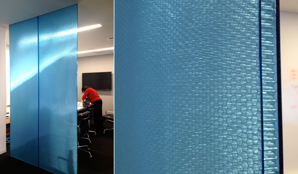 Partition wall | Bonded Series B-TCBT -- Tubular Clear core + Blue Transparent facings