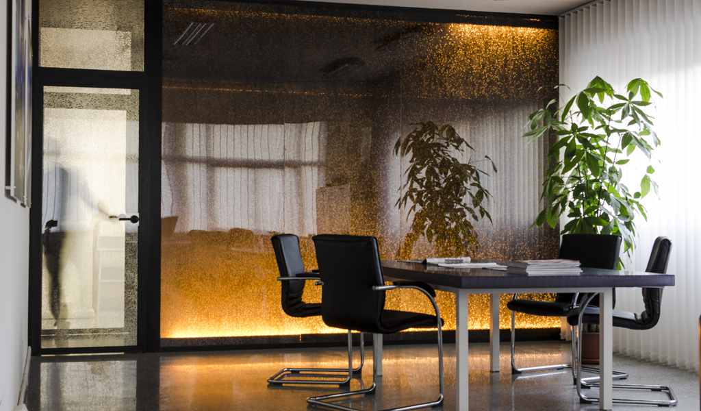 Panelite Bonded Series Translucent Honeycomb Partitions Bencore offices 1