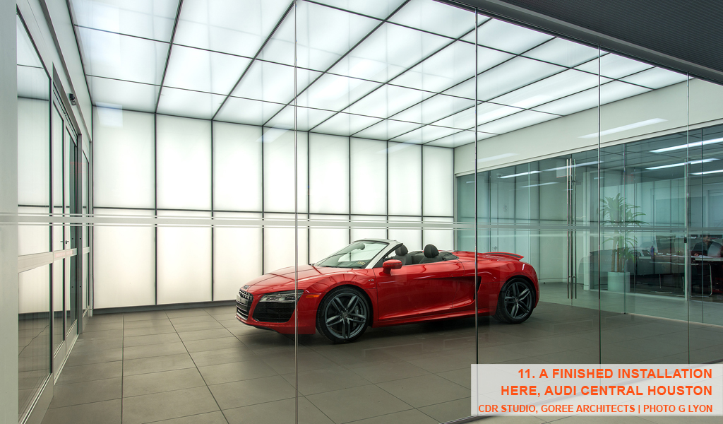 PANELITE SNAP SYSTEM FOR BACKLIT WALLS AND CEILINGS | AUDI DEALERSHIP