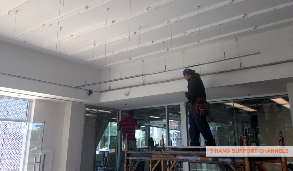 5 - Panelite SNAP System for backlit walls and ceilings - hang support channels