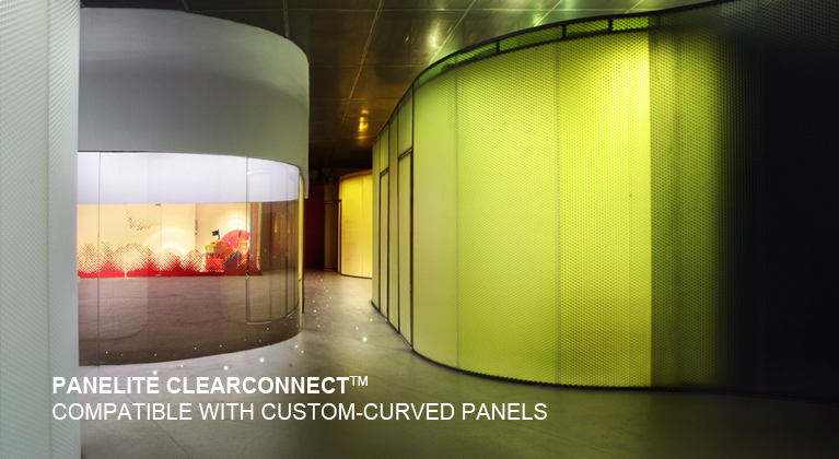 Panelite ClearConnect system for curved translucent honeycomb panels Nuno Nono Nursery