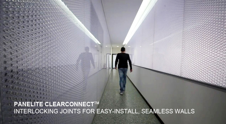 Panelite ClearConnect system for translucent honeycomb panels Bencore Offices Massa Italy 767 420