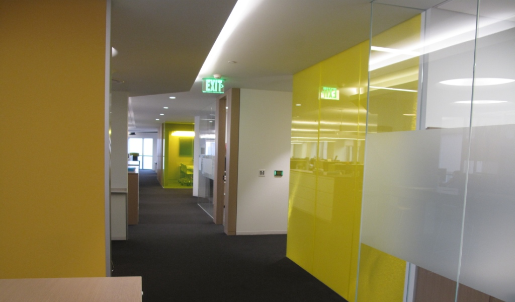 Conference room design using translucent Bonded Series panels at Westfiled Headquarters offices - Century City, Los Angeles | Architect: Woods Bagot, Installer: Zaun Glass