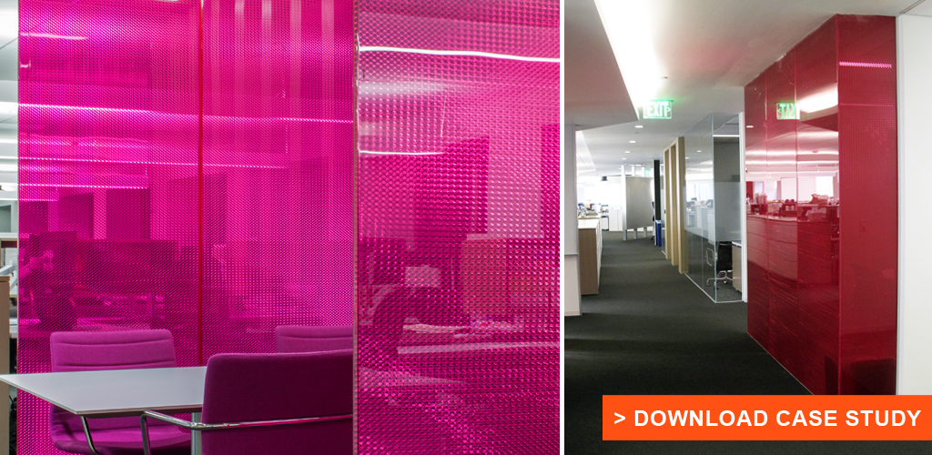 Translucent, Directionally Transparent Office Partitions at Westfield Offices, Century City, Los Angeles | Architect: Woods Bagot | Installer: Zaun Glass