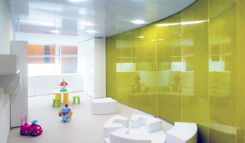 Panelite Translucent Honeycomb Panels Curved Partitions Nuno Nono Nursery GIROD+ANTON ARQUITECTOS 3