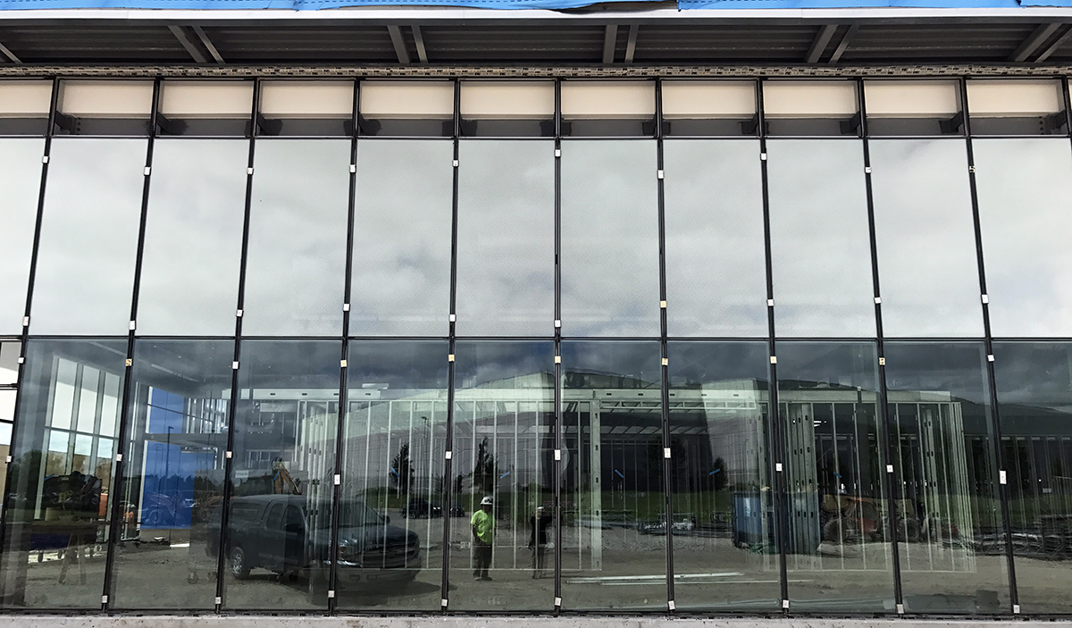 Panelite ClearShade exterior glazing for Garmin HQ - energy efficiency, directional transparency/privacy, solar heat gain control
