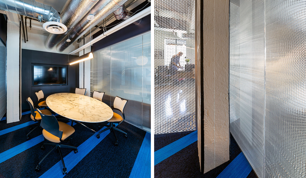 Conference room enclosure, partitions with clear view   AIA LA Offices, Los Angeles   Clay Holden Architects   Photo: Panelite
