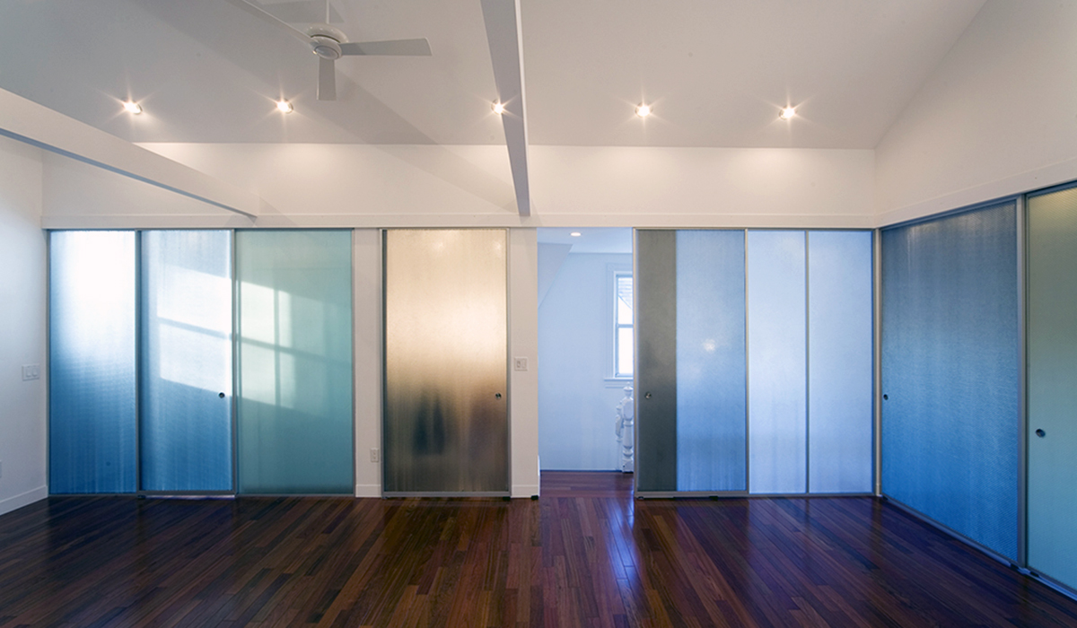 Panelite Lightweight Translucent Honeycomb Partitions Pixel panel Berwick residence GRO Architects Fabian Birgfeld Photo