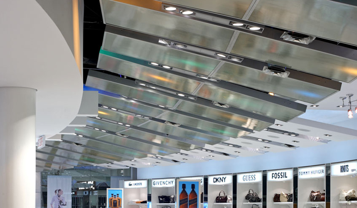 Panelite Lightweight Translucent Honeycomb Partitions Pixel panel Toronto Pearson Airport Shops Laundry Group 2