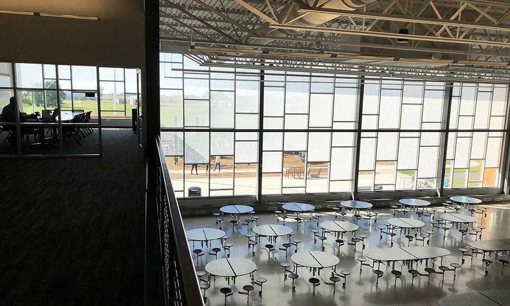 Panelite ClearShade IGU Exterior Glazing | Diffused daylighting, solar heat gain control | Sibley East Elementary School, MN