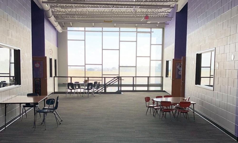 Panelite ClearShade Daylighting IGU | Exterior Glazing with daylighting, solar heat gain control | Sibley Elementary | Wendel Architects